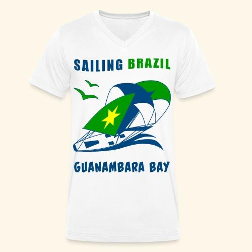 Sailing Brazil - Men's Organic V-Neck T-Shirt by Stanley & Stella