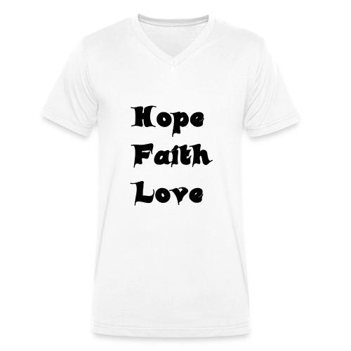 Hoffnung, Glaube, Liebe - Männer Bio-T-Shirt mit V-Ausschnitt von Stanley & Stella