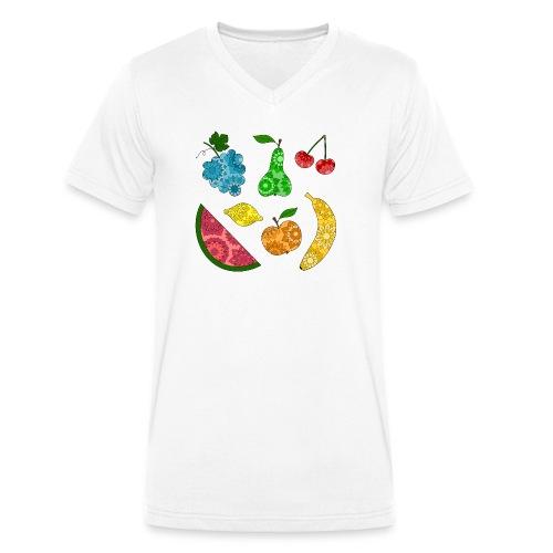 Obstsalat - Männer Bio-T-Shirt mit V-Ausschnitt von Stanley & Stella