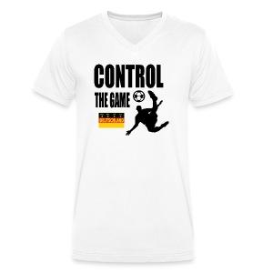 Control the game Deutschland zwart - Mannen bio T-shirt met V-hals van Stanley & Stella