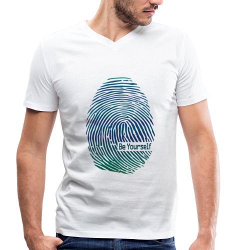 fingerprint1 - Men's Organic V-Neck T-Shirt by Stanley & Stella