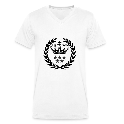5 Star Lorbeerenkranz mit Krone - Männer Bio-T-Shirt mit V-Ausschnitt von Stanley & Stella