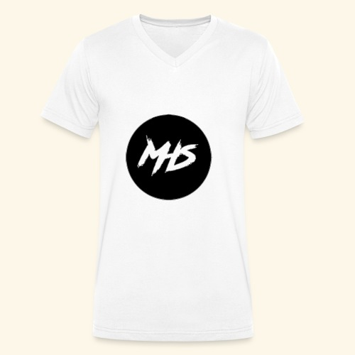 Watermerk - Zwart - Mannen bio T-shirt met V-hals van Stanley & Stella