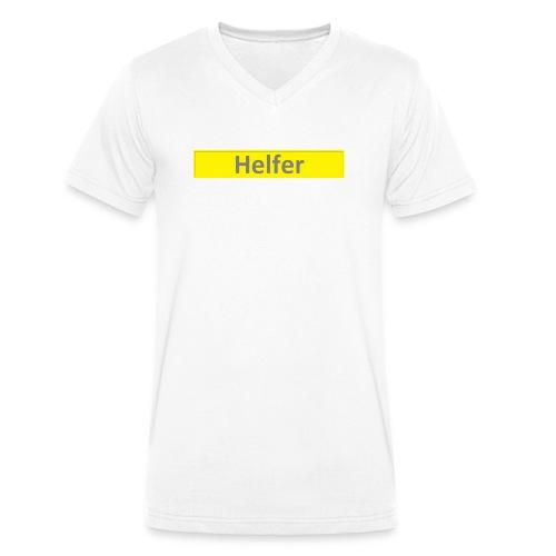 Helfer Logo 1 - Männer Bio-T-Shirt mit V-Ausschnitt von Stanley & Stella