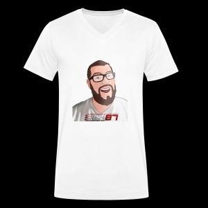 Eboy logo avatar tee - Men's Organic V-Neck T-Shirt by Stanley & Stella
