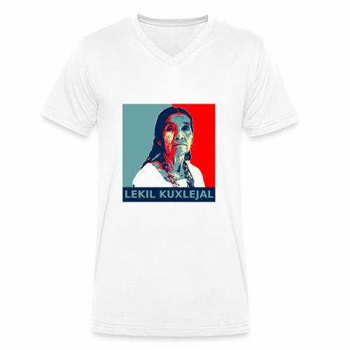 Lekil Kuxlejal - Camiseta ecológica hombre con cuello de pico de Stanley & Stella