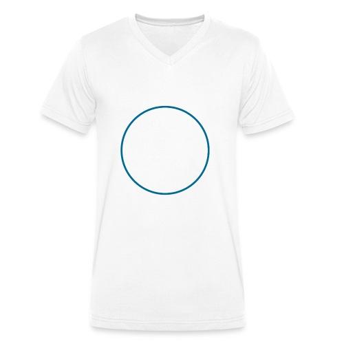 cerchio_petrolio - T-shirt ecologica da uomo con scollo a V di Stanley & Stella