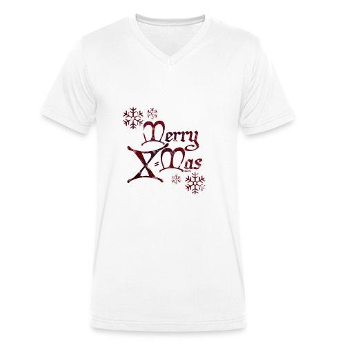 MerryX Mas - shuttledesign - Männer Bio-T-Shirt mit V-Ausschnitt von Stanley & Stella