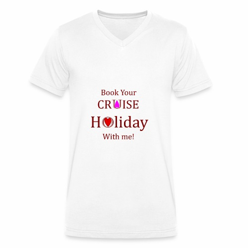 Book your Holiday 1 - Men's Organic V-Neck T-Shirt by Stanley & Stella