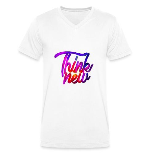 Think new [T-SHIRT DESIGN] - Männer Bio-T-Shirt mit V-Ausschnitt von Stanley & Stella