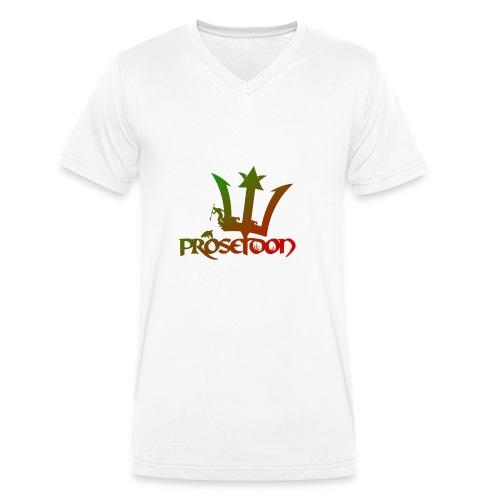 Proseidon Official Logo Rasta - Männer Bio-T-Shirt mit V-Ausschnitt von Stanley & Stella
