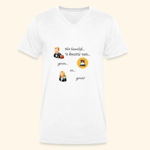 Het huwelijk... - Mannen bio T-shirt met V-hals van Stanley & Stella
