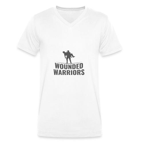 Wounded Warrior Design - Männer Bio-T-Shirt mit V-Ausschnitt von Stanley & Stella