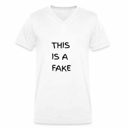 Fake - Männer Bio-T-Shirt mit V-Ausschnitt von Stanley & Stella