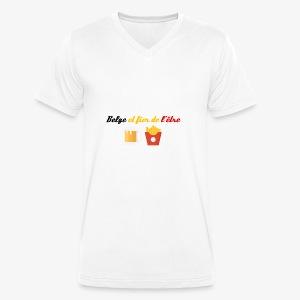 Belge et fier de l'être - T-shirt bio col V Stanley & Stella Homme