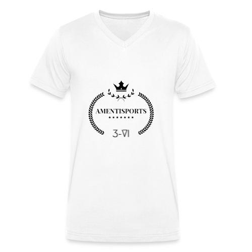 AmentiSports - Männer Bio-T-Shirt mit V-Ausschnitt von Stanley & Stella