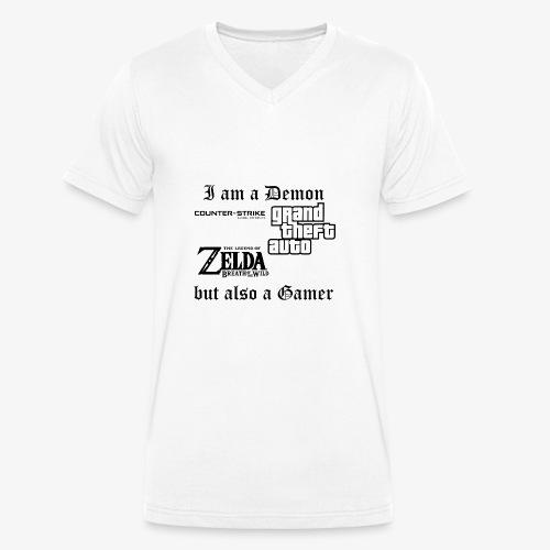 Demon also gamer - Männer Bio-T-Shirt mit V-Ausschnitt von Stanley & Stella