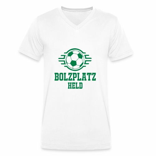 Bolzplatzheld Shirt - Männer Bio-T-Shirt mit V-Ausschnitt von Stanley & Stella