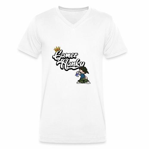 GamerHanky Logo (ohne Drachen) - Männer Bio-T-Shirt mit V-Ausschnitt von Stanley & Stella