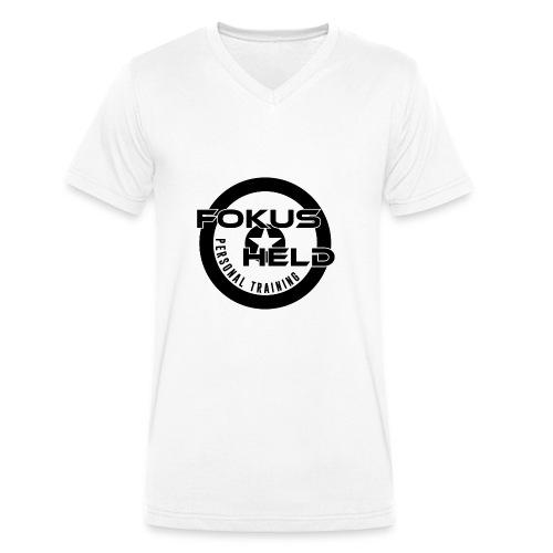 black&white FOKUS HELD - Männer Bio-T-Shirt mit V-Ausschnitt von Stanley & Stella