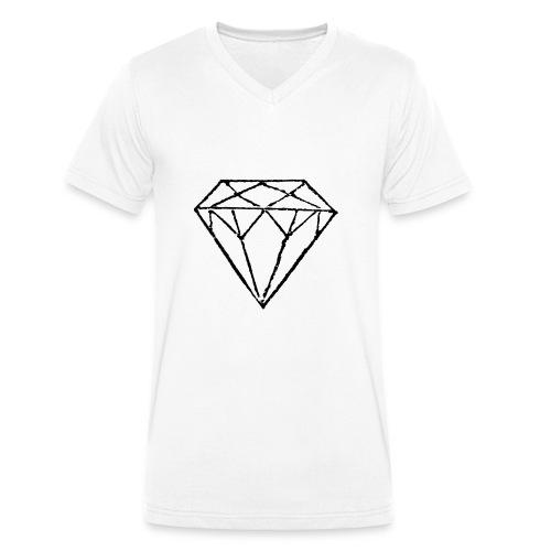 Diamond - Ekologisk T-shirt med V-ringning herr från Stanley & Stella