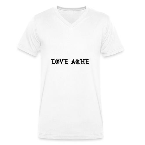 LOVE ACHE - Mannen bio T-shirt met V-hals van Stanley & Stella