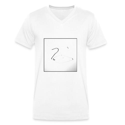 Schwan - Swan - Männer Bio-T-Shirt mit V-Ausschnitt von Stanley & Stella