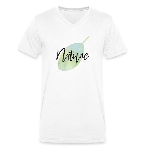 Nature - Camiseta ecológica hombre con cuello de pico de Stanley & Stella