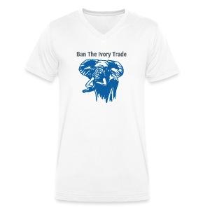 Ban The Ivory Trade - Männer Bio-T-Shirt mit V-Ausschnitt von Stanley & Stella