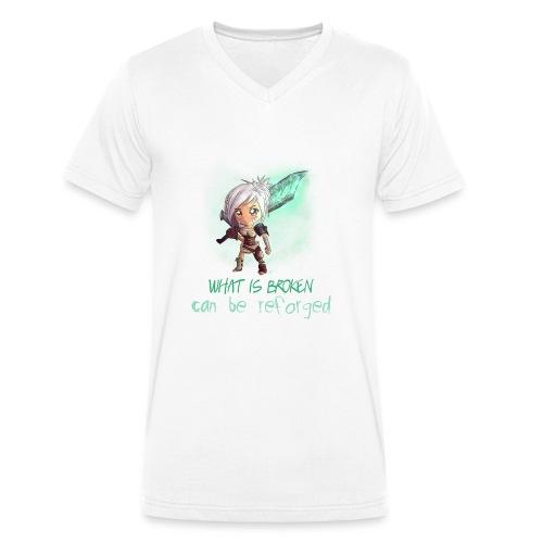 Chibi Riven con scritta DONNA - T-shirt ecologica da uomo con scollo a V di Stanley & Stella