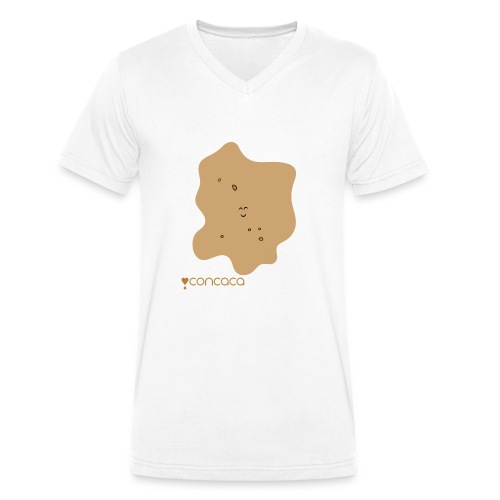 Baby bodysuit with Baby Poo - Men's Organic V-Neck T-Shirt by Stanley & Stella