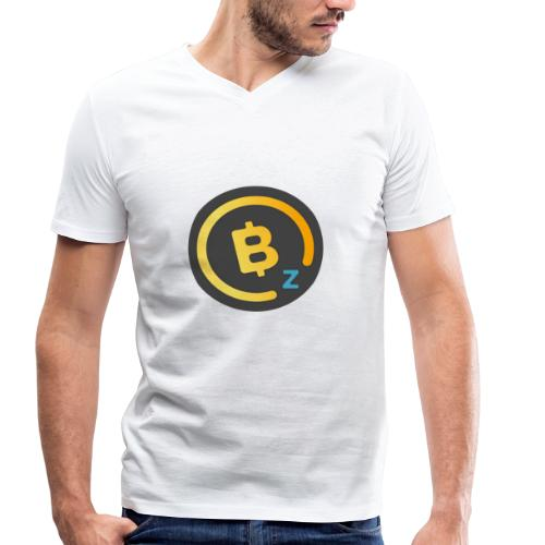 Dark BitcoinZ Logo - Men's Organic V-Neck T-Shirt by Stanley & Stella