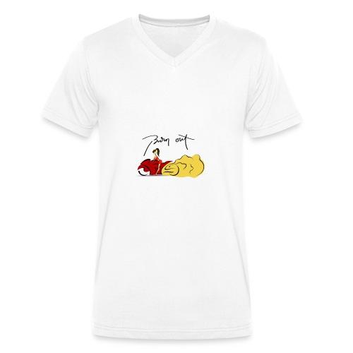 Moto Burn Out - T-shirt ecologica da uomo con scollo a V di Stanley & Stella