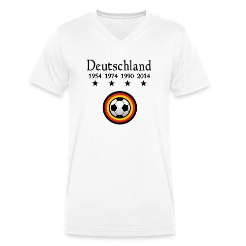 Moderne Fußball-T-Shirts Deutschland - Mannen bio T-shirt met V-hals van Stanley & Stella