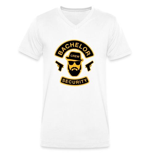 Bachelor Security - JGA T-Shirt - Bräutigam Shirt - Männer Bio-T-Shirt mit V-Ausschnitt von Stanley & Stella