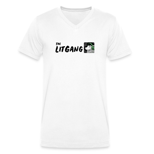 LitGang - Men's Organic V-Neck T-Shirt by Stanley & Stella