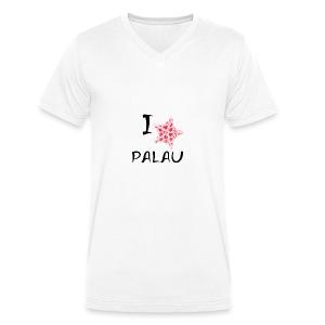 I Love Palau - Men's Organic V-Neck T-Shirt by Stanley & Stella