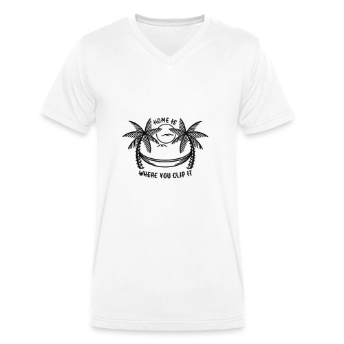 Home is where you clip it - Men's Organic V-Neck T-Shirt by Stanley & Stella