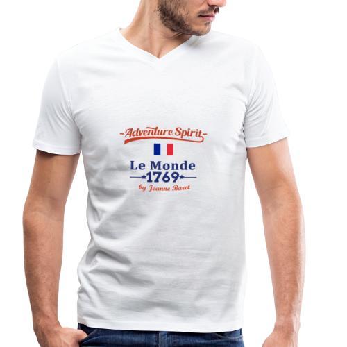 Adventure Spirit France - Männer Bio-T-Shirt mit V-Ausschnitt von Stanley & Stella