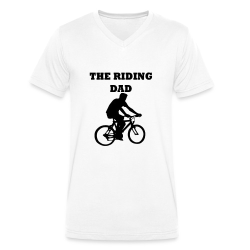 The riding dad T-Shirt - Männer Bio-T-Shirt mit V-Ausschnitt von Stanley & Stella
