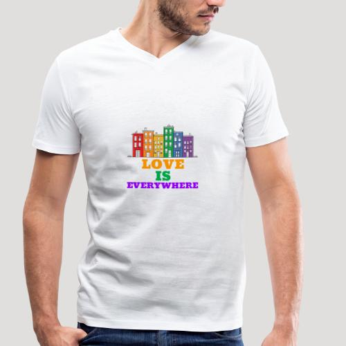 Love is everywhere - Homosexuell - LGBT - Schwul - Männer Bio-T-Shirt mit V-Ausschnitt von Stanley & Stella