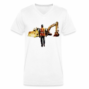 Diggers and Dozers - Men's Organic V-Neck T-Shirt by Stanley & Stella