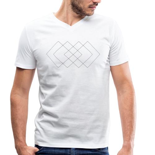 Perfect Squares Sequence - Ekologiczna koszulka męska z dekoltem w serek Stanley & Stella