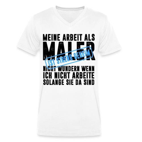 MALER HANDWERK BERUF ARBEIT BAUSTELLE LACKIERER - Männer Bio-T-Shirt mit V-Ausschnitt von Stanley & Stella