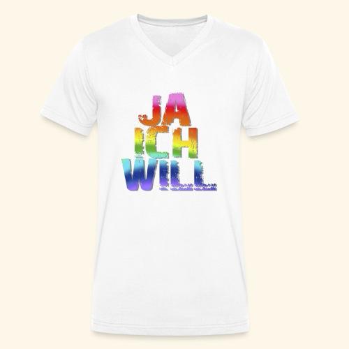 ja ich will! - Männer Bio-T-Shirt mit V-Ausschnitt von Stanley & Stella