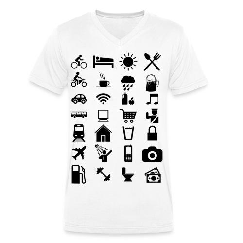 T-shirt de voyage à l'étranger - T-shirt bio col V Stanley & Stella Homme