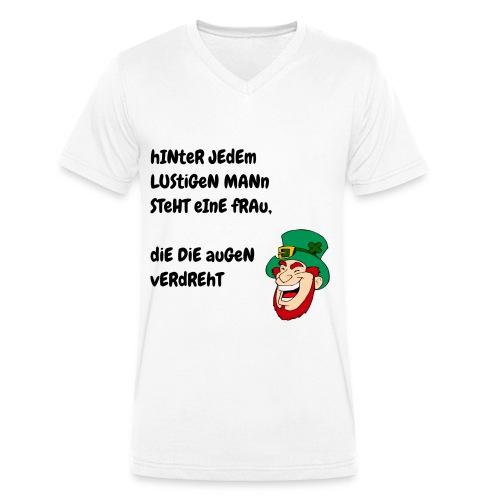 Hinter Jedem Lustigen Mann - Männer Bio-T-Shirt mit V-Ausschnitt von Stanley & Stella