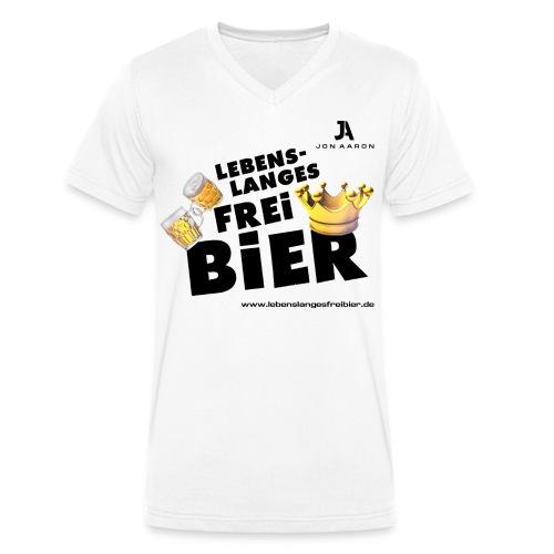 Lebenslanges Freibier - Männer Bio-T-Shirt mit V-Ausschnitt von Stanley & Stella