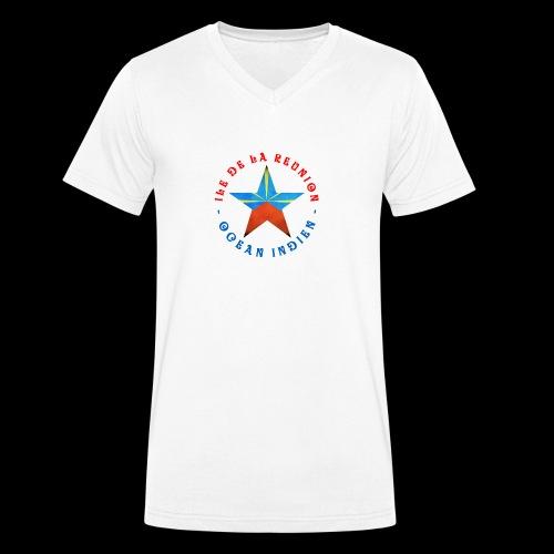 Collection Etoile Lo Mahavéli drapeau régional - T-shirt bio col V Stanley & Stella Homme