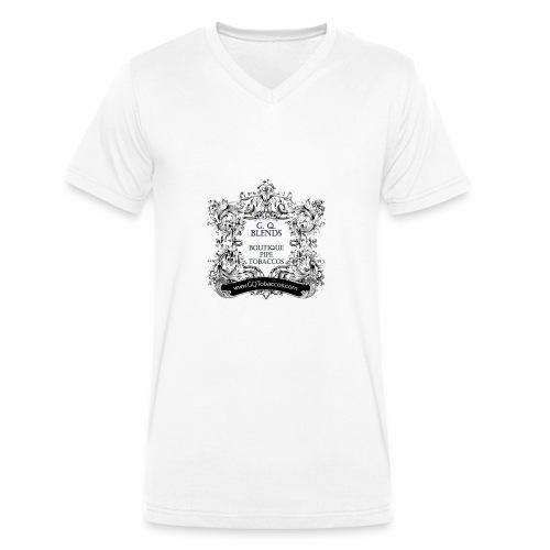 GQ BLends Logo - Men's Organic V-Neck T-Shirt by Stanley & Stella
